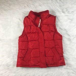 Women's Aeropostale Red Puffer Vest Size M